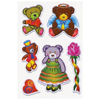 K..23) 3D Stickerset Bären