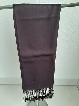 Wunderschöner Schal violett dunkel 100% Silk Cambodia