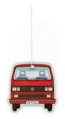 VW T3 BUS LUFTERFRISCHER - VANILLE/ROT