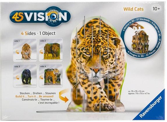 K..133) Wild Cats 3 D Puzzle Ravensburger