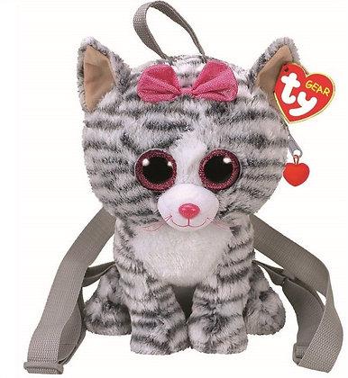 K..137) Rucksack Katze mit Glitzeraugen