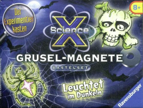 K..16) Ravensburger Glow-in-the-dark -Grusel-Magnete