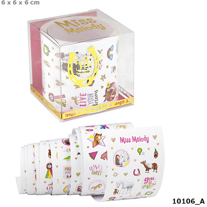 K..130) Sticker Rolle Miss Melody Pferde 3 Meter 510 Sticker