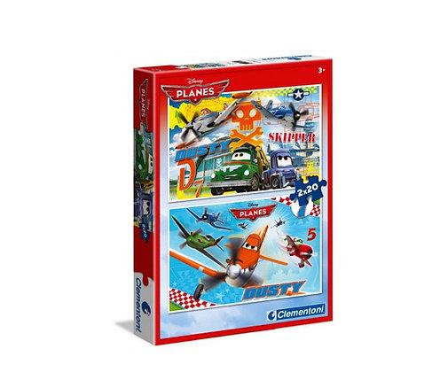 K..31) 2x Planes Puzzle im 2er Set