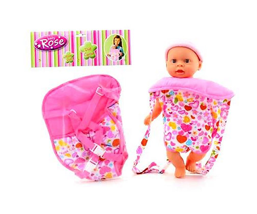 K..134) Bauchträger - Babytrage für Puppe