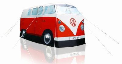 Festivalhit: Original VW Bus Zelt T1 in Rot