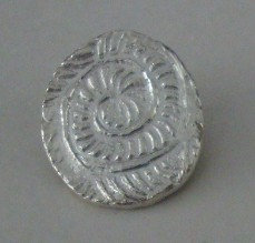 Silber Anhänger Schneckenstruktur