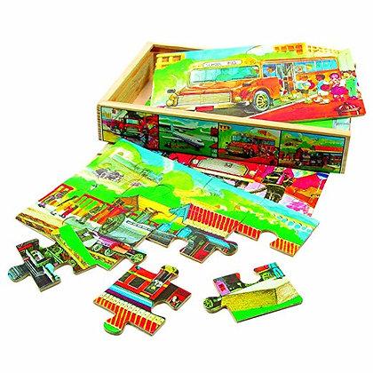 K..41) Puzzle Verkehrsmittel