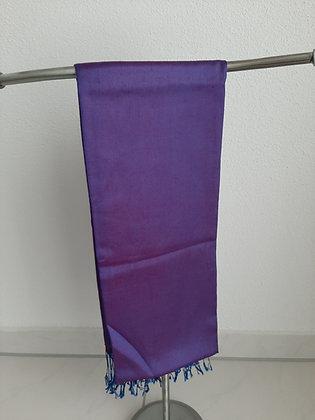 Wunderschöner Schal violett 100% Silk Cambodia
