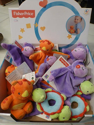 K..44) Fisher Price Stofftiere