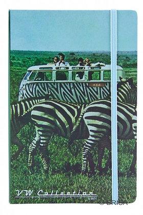 VW Bulli Notizbuch mit Zebra