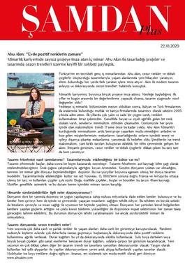 Şamdan Dergisi 22 EKim 2020