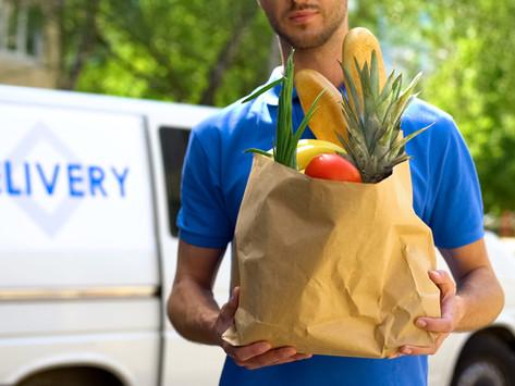 Isolamento seguro, higiene de compras e entregas