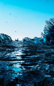 Deep Blue Diamonds - Art by Cristiano Chaussard