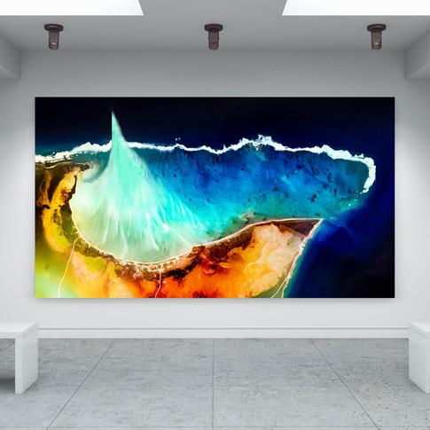 Icy Geyser Art