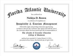 Hospitality & Tourism Management Certifi