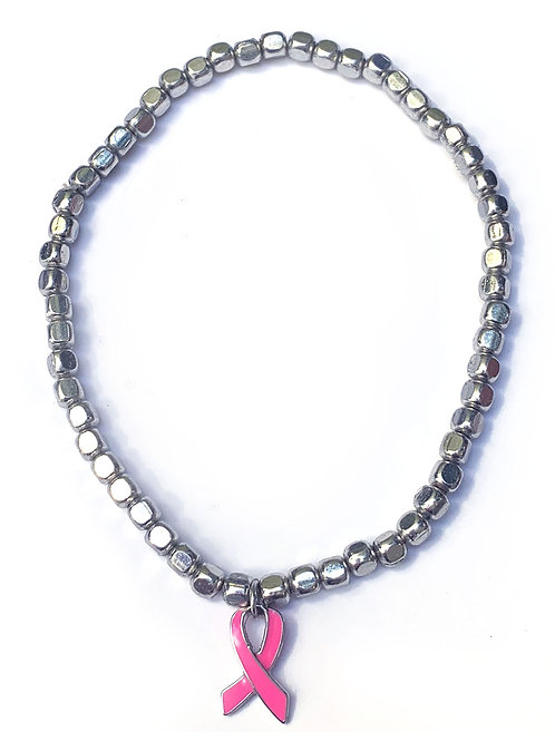 Silver plated beads bracelet