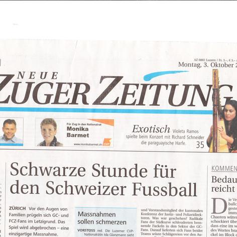 Titel-Bild der Zuger Zeitung