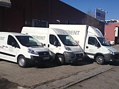 Alquiler de furgonetas para mudanzas en Madrid, Alcobendas, San Sebastián de los Reyes