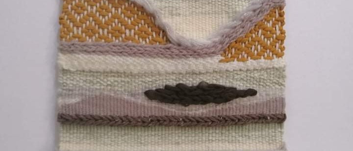 neutral weaving wall hanging