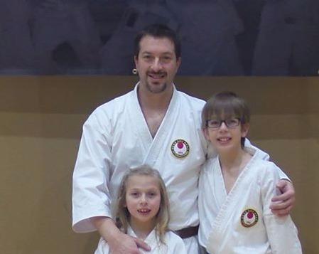 Sensei Gillis with his children