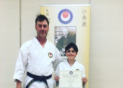 Sensei Pursell and Dylan
