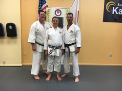 Ron and son Josh with Sensei Pursell