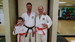 Lee & son David with Sensei Pursell