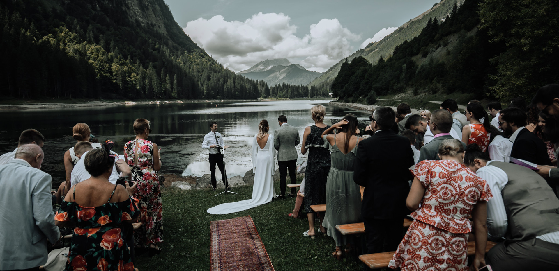 Wedding Ceremony at Lac Montriond