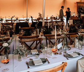 Stunnig table set up tent wedding