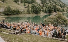 Wedding guests group shot - Sam Ingles Photography