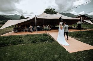 Vintage wedding reception