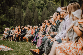 Wedding guests beofre the ceremony- Sam Ingles Photography