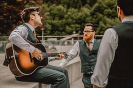 Practicing the best mans speech - Sam Ingles Photography