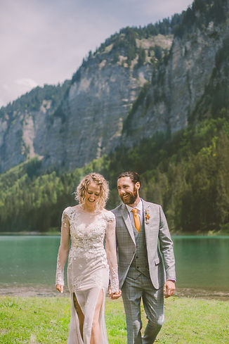 Lake Montriond Domaine du baron wedding