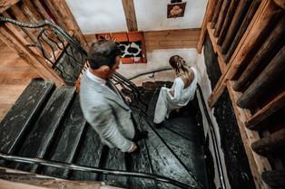 Bride and Groom at the wedding venue