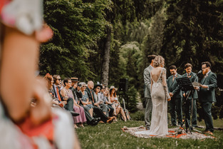 Wedding Ceremony Lake Montriond - Sam Ingles Photography