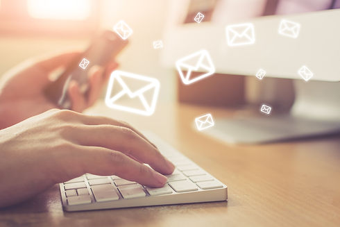 Email marketing and newsletter concept,
