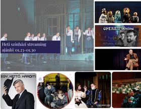Heti színházi streaming ajánló | 01.23-01.30
