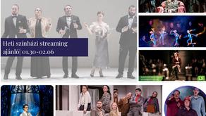 Heti színházi streaming ajánló | 01.30-02.06