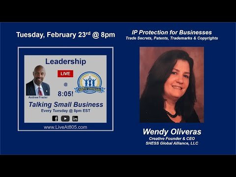 February 23, 2021:  LIVE @ 8:05! with Andrew Frazier - IP Protection for Businesses
