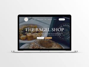 Web Design for a Bagel Store