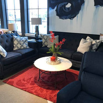 Stylish blue couch and chair set.jpg