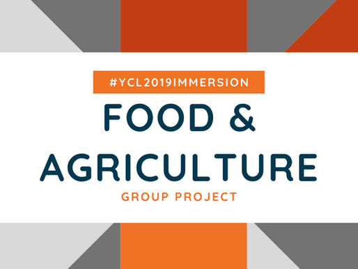 #YCL2019Immersion | Food & Agriculture Project presentation