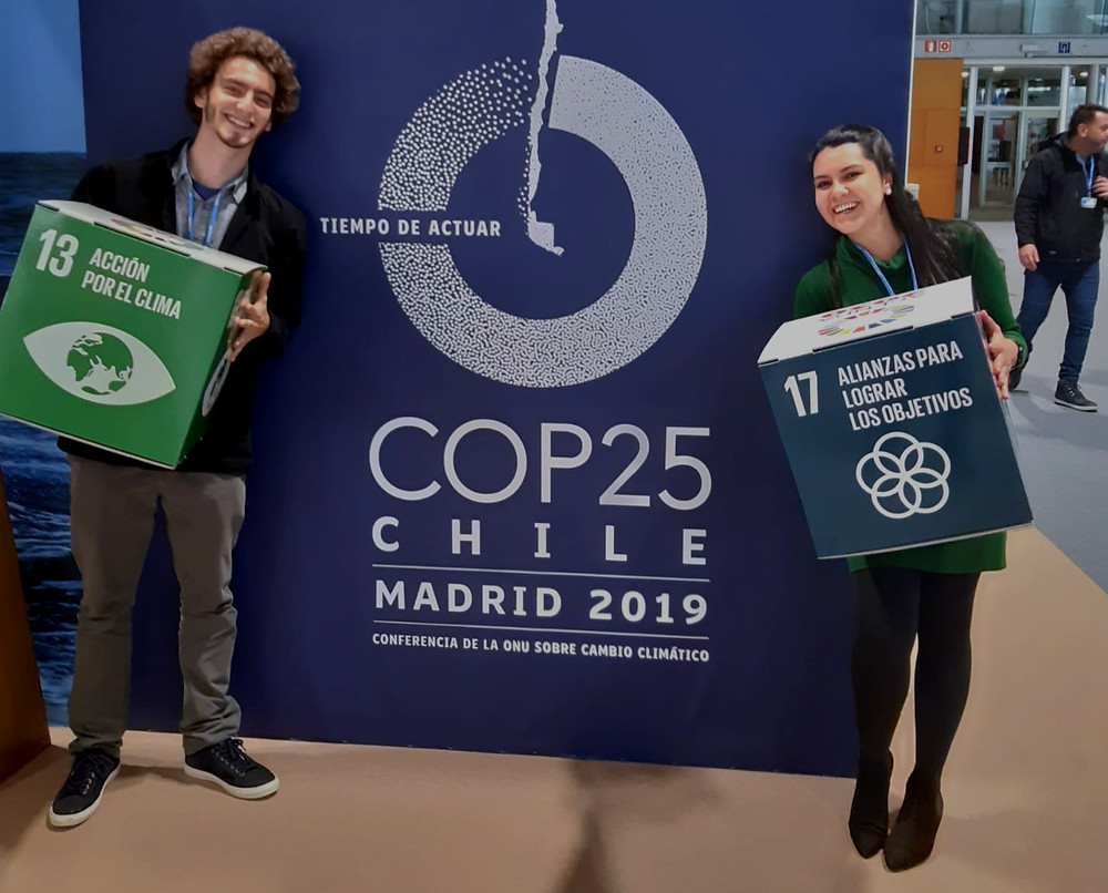 Thiago and Erica with our favorite SDGs