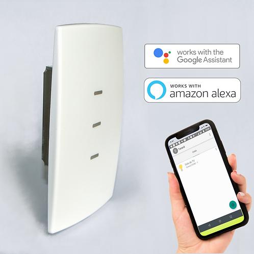 Interruptor Inteligente de 3 botões com Wi-Fi