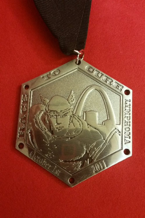 2011 Race To Cure Lymphoma Finisher Medal