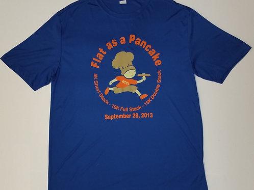 2013 Flat As A Pancake Race Tech T-Shirt Blue