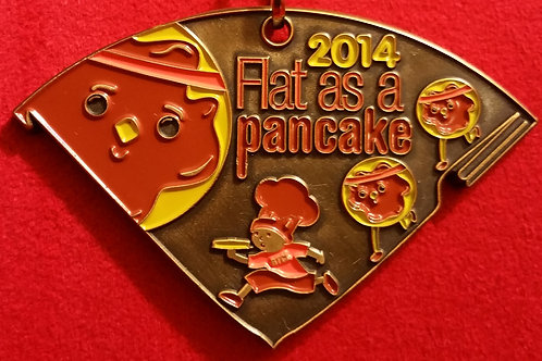 2014 Flat As A Pancake Finishers Medal
