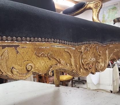 Banquette de style Louis XV